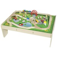 Train Set & Table | Bigjigs Rail (BJT040) | Train Sets