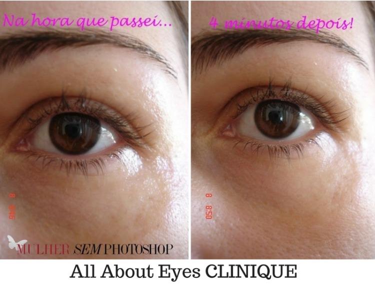 All About Eyes Clinique antes e depois resenha creme para olheiras