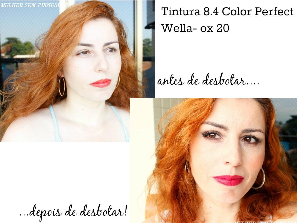 Ruivo Color Perfect Wella - 8.4 + ox 20
