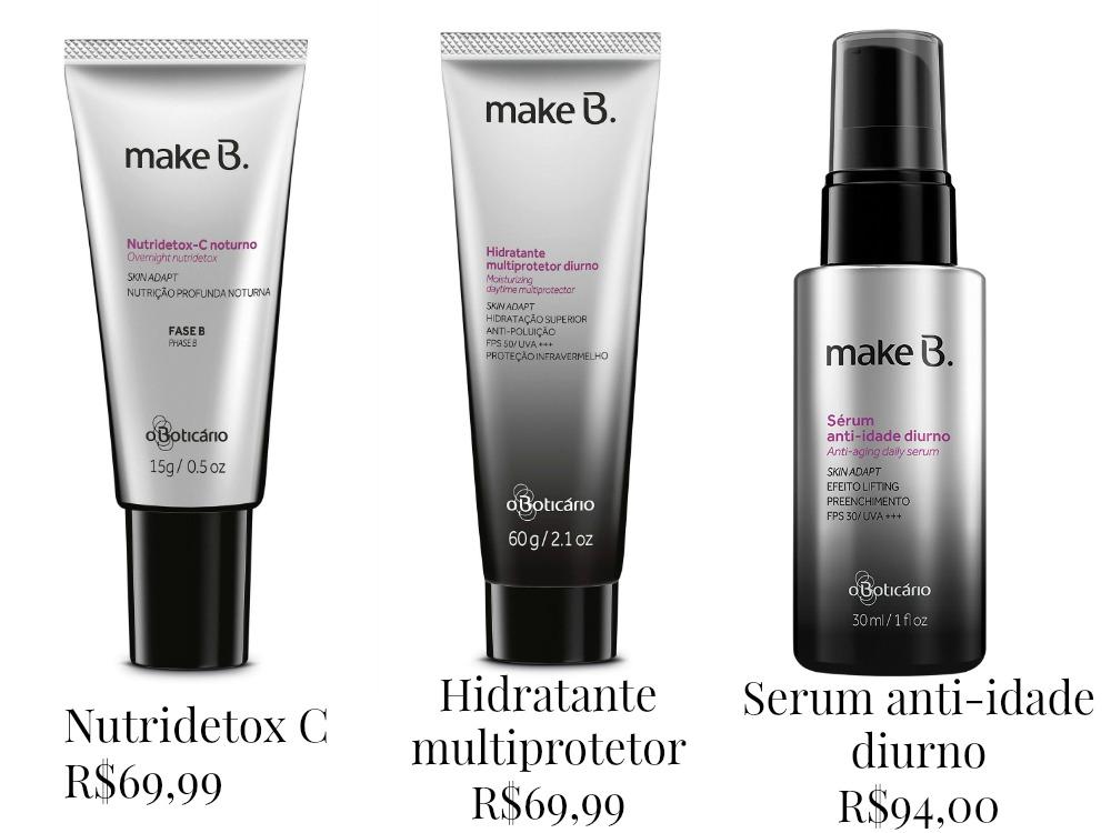 Produtos de tratamento - Make B. Facial