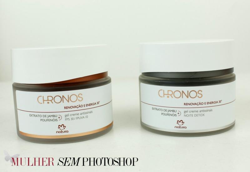 Natura Chronos 30+ - Gel Creme FPS 30 e o Noite Detox