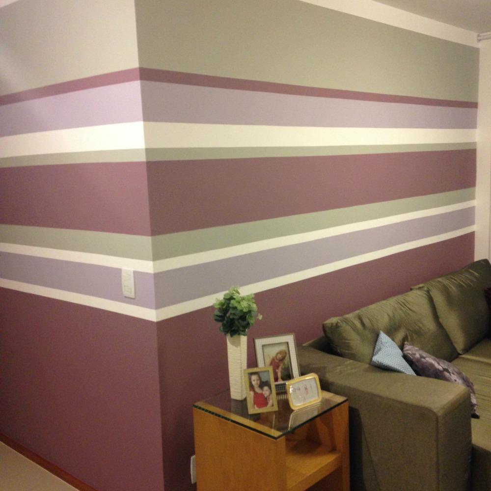 parede listrada sala