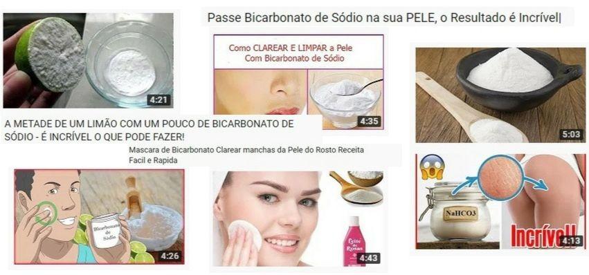 bicarbonato clareia a pele