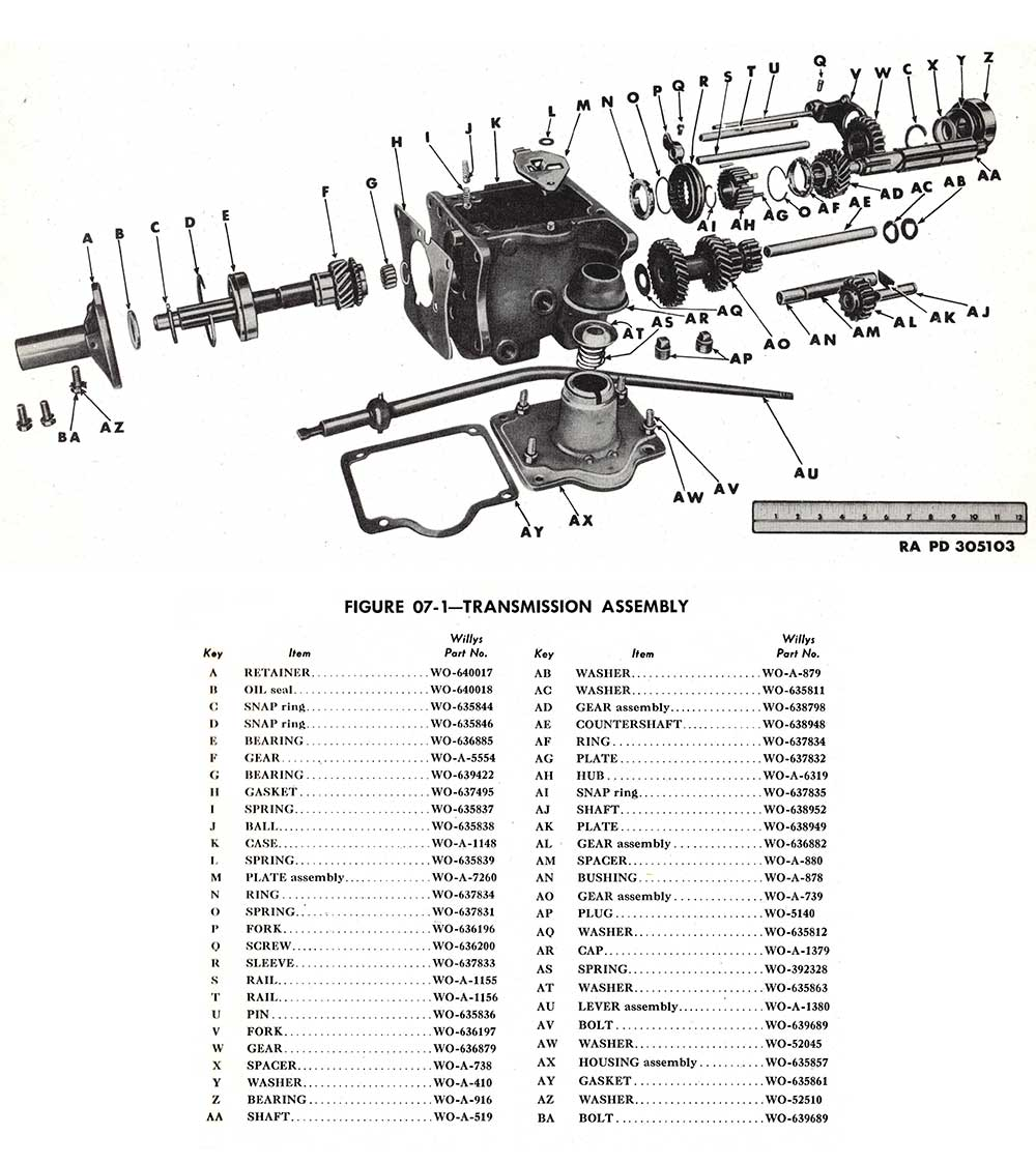 jeep parts schematic