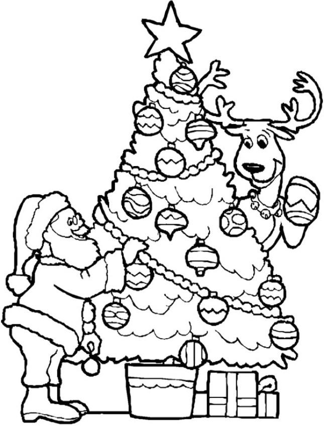 193 Rvores De Natal Para Imprimir E Pintar Easy Coloring Pages Santa