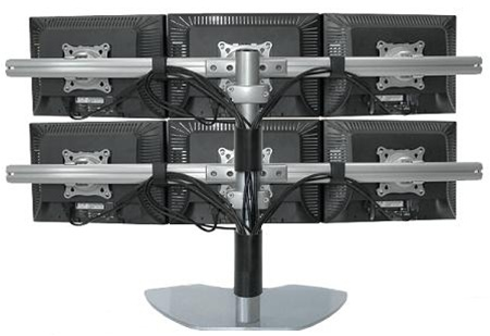 Six LCD Multiple Monitor Stand (use up to 20\ - multi screen display
