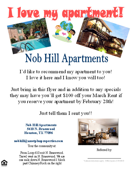 Help \u2013 I need some resident referral flyer ideas!  Apartment Ideas - apartment for rent flyer