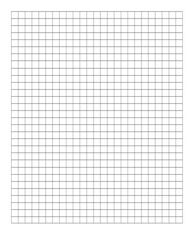 Multiplication Array Math Art - graphing paper printable