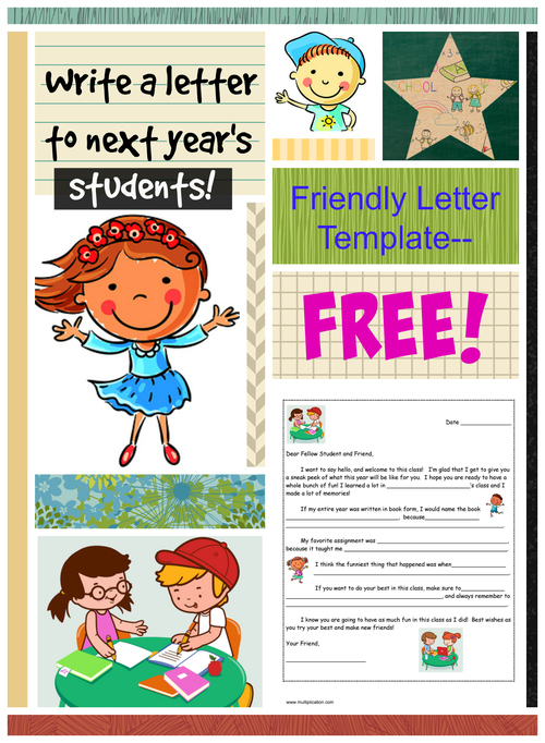 A Friendly Letter to Next Year\u0027s Student with Free template