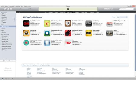 itunes app store airplay