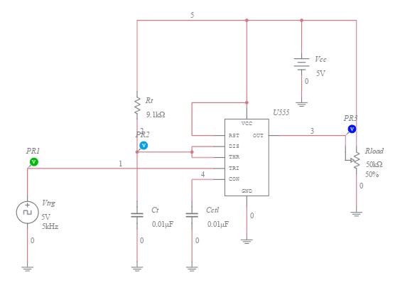 555 timer mono stable one shot circuit