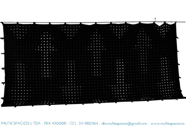 alquiler de pantallas y Cortina LED