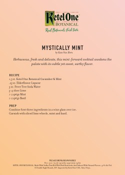 Excellent Mystically Mint By Kate Van Horn Ketel One Botanical Invites You To Gar Your Carbs Captain Morgan Loconut Carbs Captain Morgan Rum Diet Coke