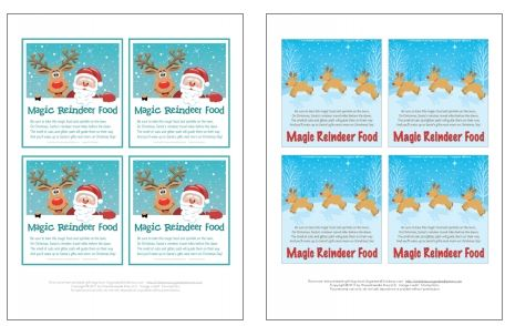Reindeer Food Tutorial and Free tag roundup - Mum In The Madhouse