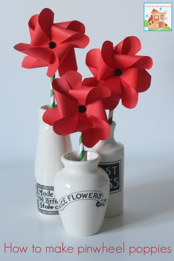 Pinwheel Poppies - A Remembrance, Armistice or Veteran\u0027s day