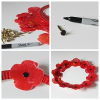 Melted wax poppy craft, a remembrance day activity - Mum ...