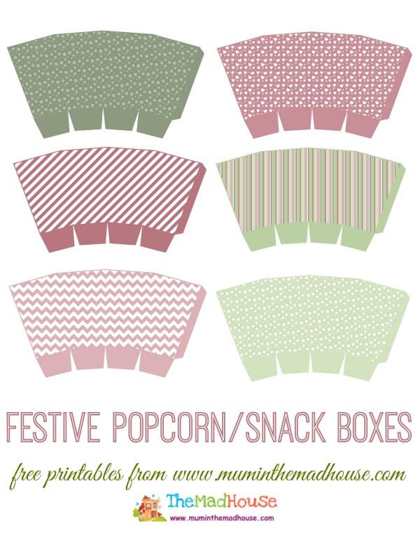 printable popcorn box - Pinarkubkireklamowe