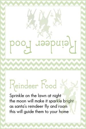 Animal Safe Magic Reindeer food and free printable labels - Mum In