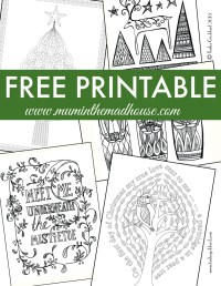 Free Christmas Colouring Pages for Adults and Teens - Mum ...