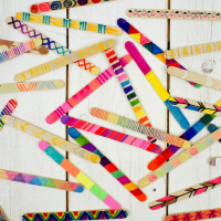 How to Make a Craft Stick Wall Hanging - Mum In The Madhouse