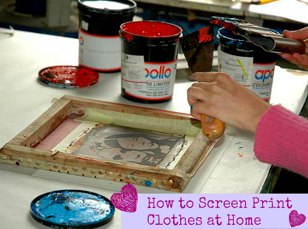 How to Screen Print Clothes at Home
