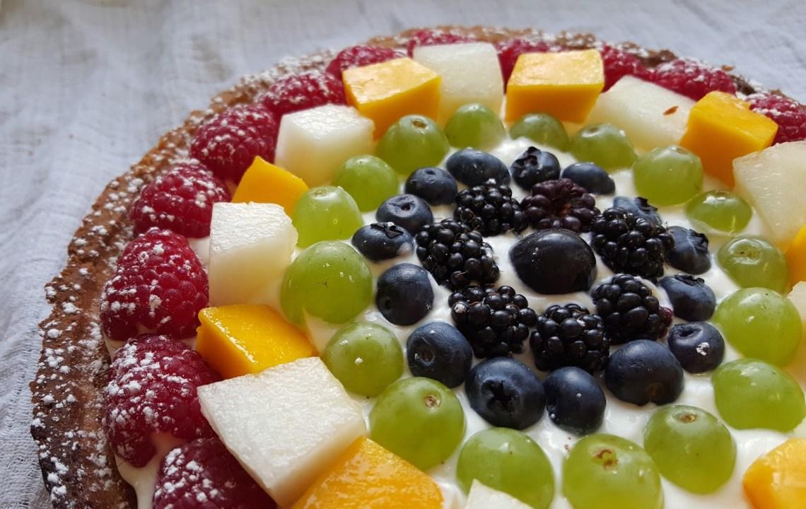 Rainbow frangipane tart GBBO Bloggers - NSIWE (3)