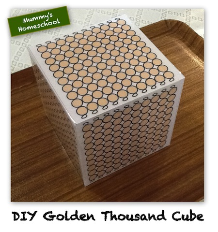 Montessori Printable DIY Golden Hundred Square  Thousand Cube