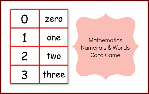 Mathematics Numbers and Words Card Game (1 to 10,000)