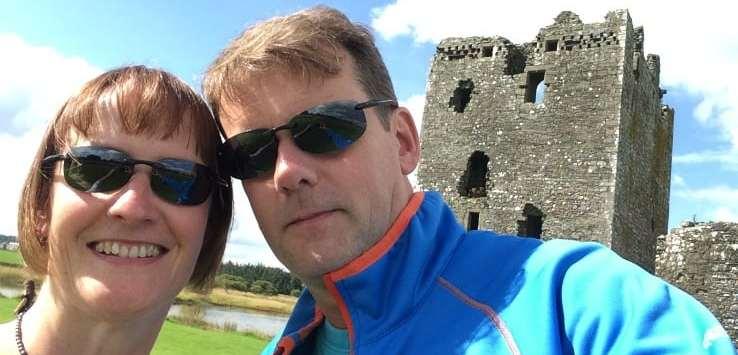 Threave castle selfie
