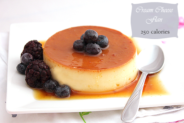 cream cheese flan low calorie