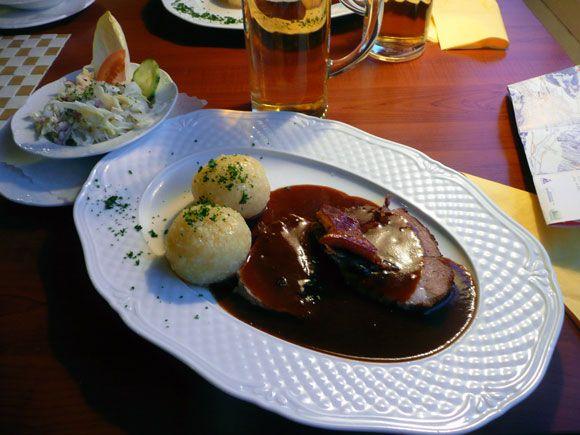 Гармиш-Партенкирхен - жаркое с картофельными кнёделями
