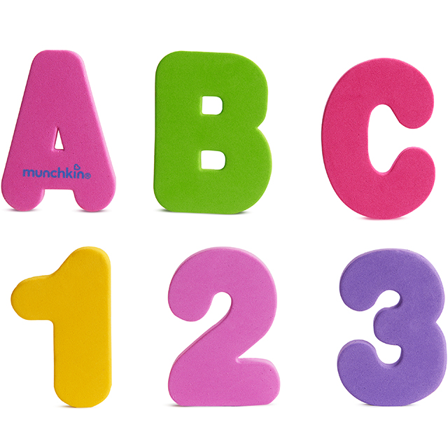 Learn Bath Letters  Numbers-Pastel, 36 Count Munchkin