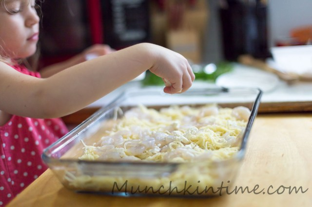 Easy and Delicious Angel Hair Shrimp Bake
