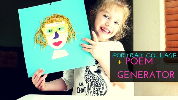 Portrait Collage for Mom + Poem Generator - Crafty gift for mom that kids can make for Mother's Day or Mom's Birthday -- #mothersdaygift #craftsforkids