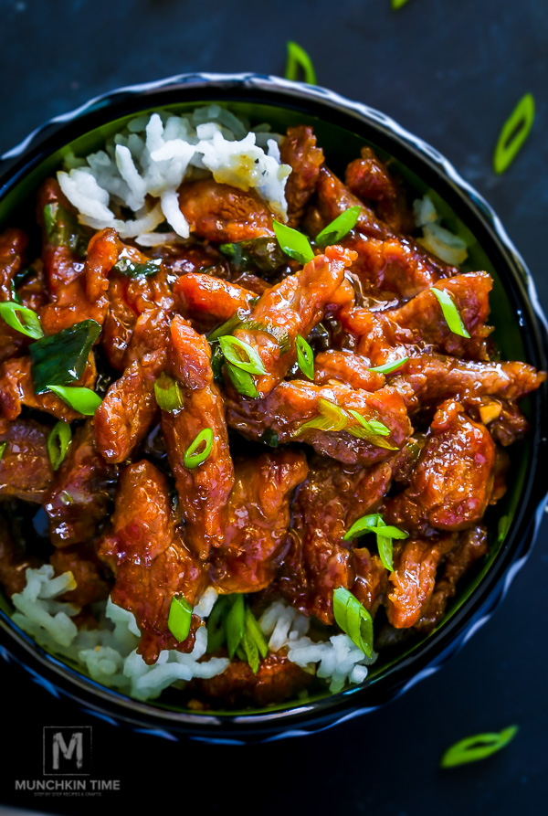 Mongolian Beef - 30 Minute Recipe - Made of simple ingredients and taste incredibly delicious!