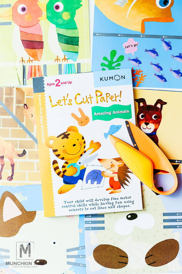 Kumon Book Let's Cut Paper and --Creativity For Kids My First Scissors - TImberdoodle Review from Munchkintime.com
