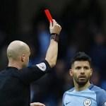 Sergio Aguero Red Card