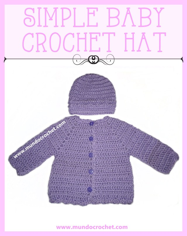 Simple baby Crochet hat