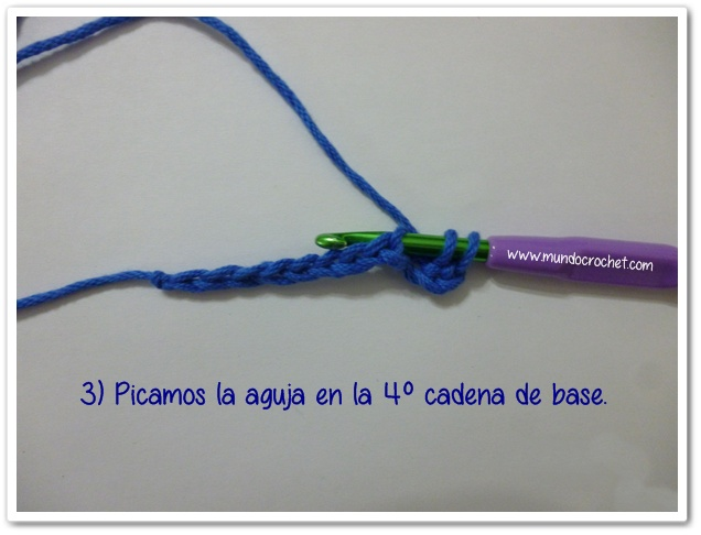 Punto medio vareta inclinado o herringbone half double crochet3