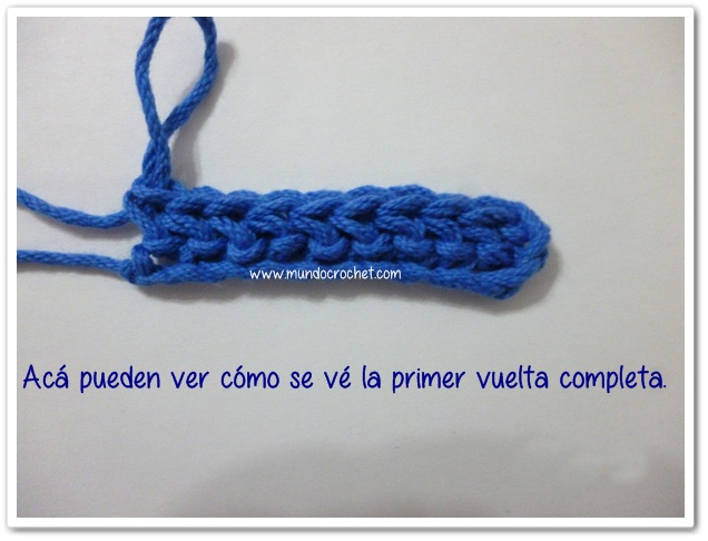 Punto medio vareta inclinado o herringbone half double crochet9