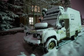 Depois de algumas horas estacionados em Banff