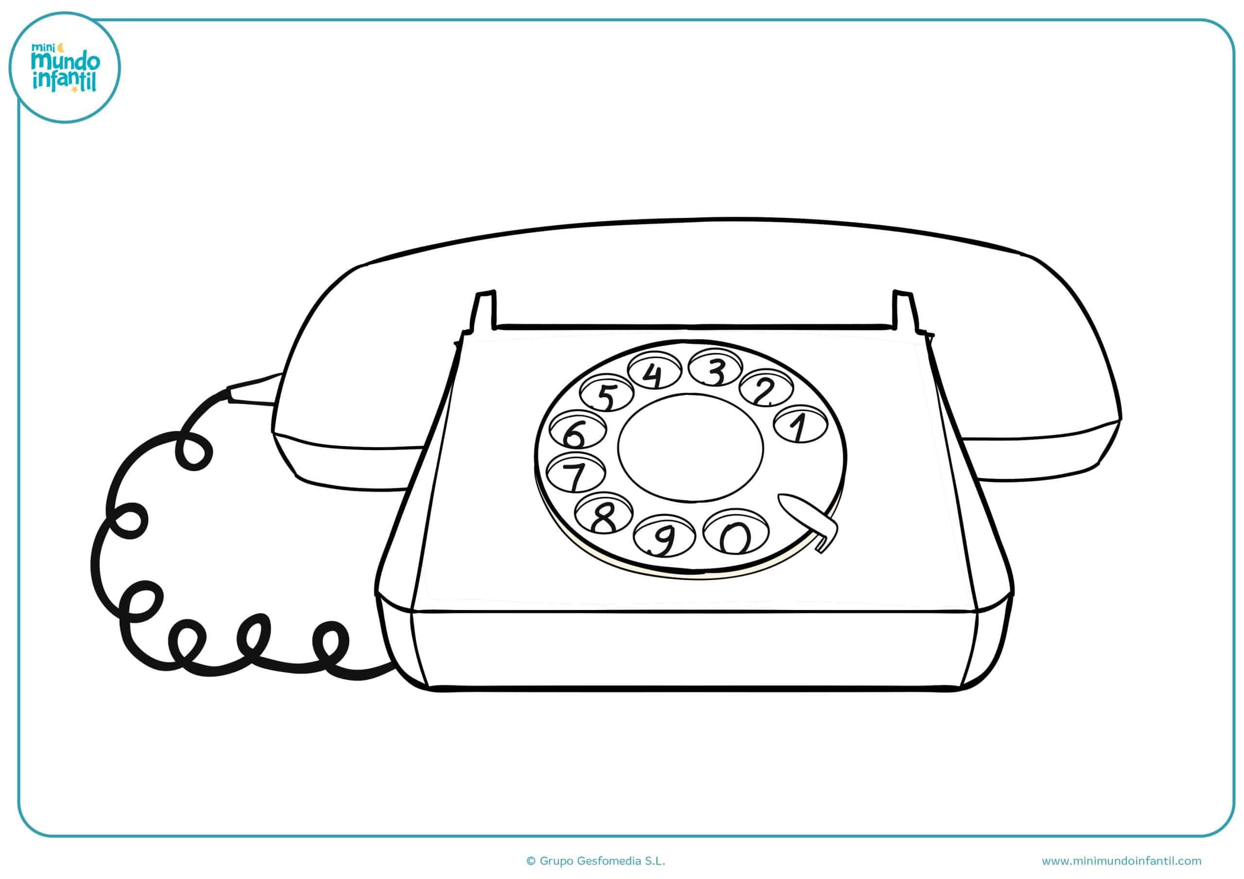 Famoso Colorear Teléfono Celular Ideas - Ideas Creativas para ...