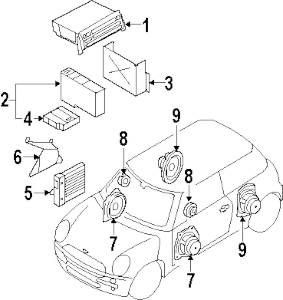 2004 mini cooper stereo del Schaltplan
