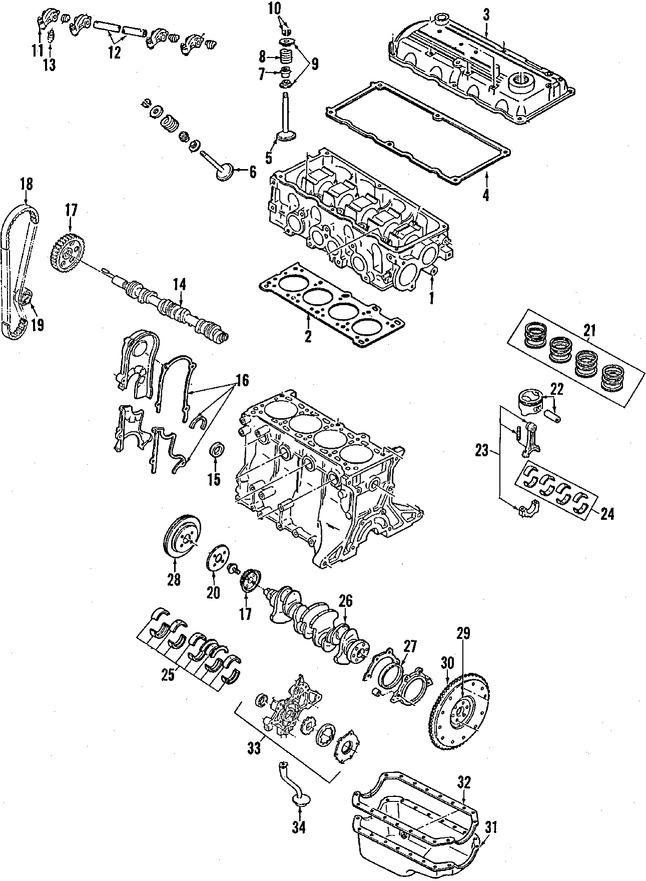 1989 mercury tracer del Schaltplan