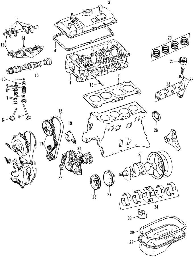 mitsubishi precis Diagrama del motor