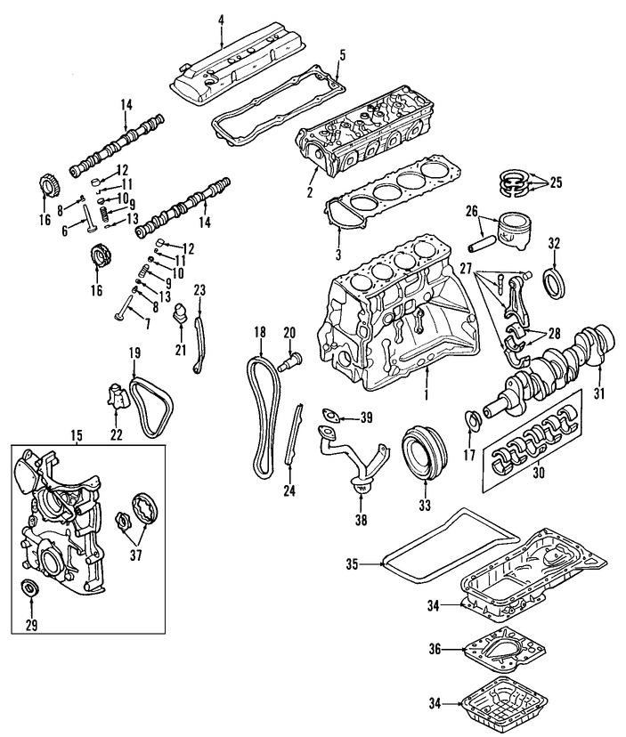 nissan rogue Diagrama del motor