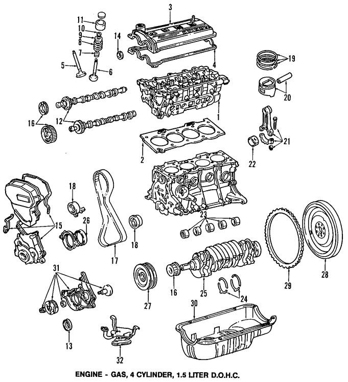 1996 toyota tercel del Schaltplan manual original