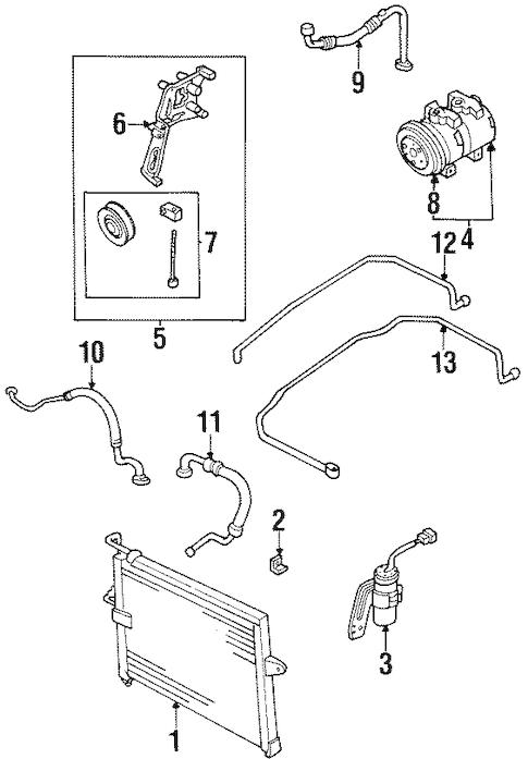 1997 kia sportage Diagrama del motor
