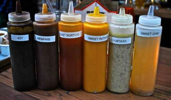 bbq sauces at southpaw