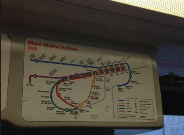 old muni map on the n judah